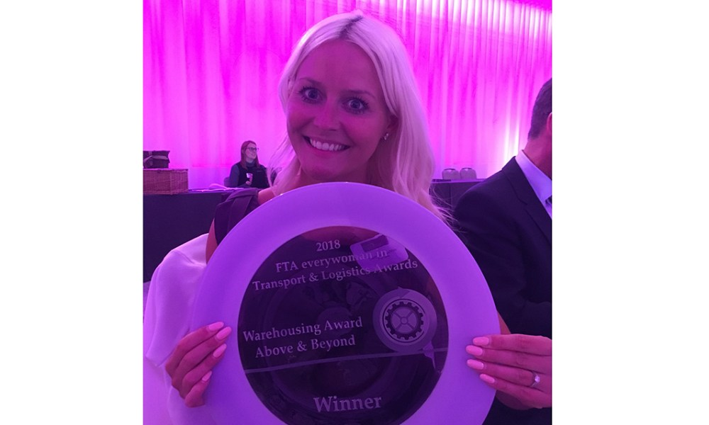 Clare - winner of Warehousing Award Above and Beyond