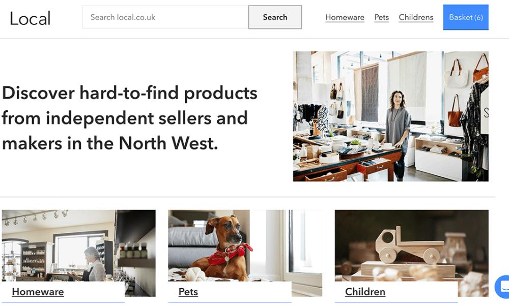Screenshot of the local.co.uk homepage