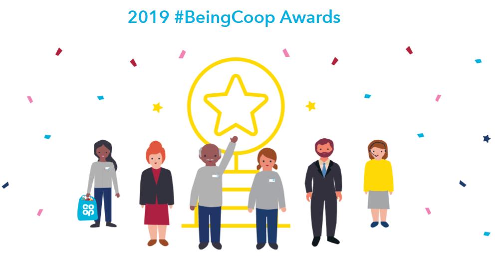 2019 #BeingCoop Awards logo
