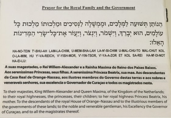 prayer for the Dutch Royal Family