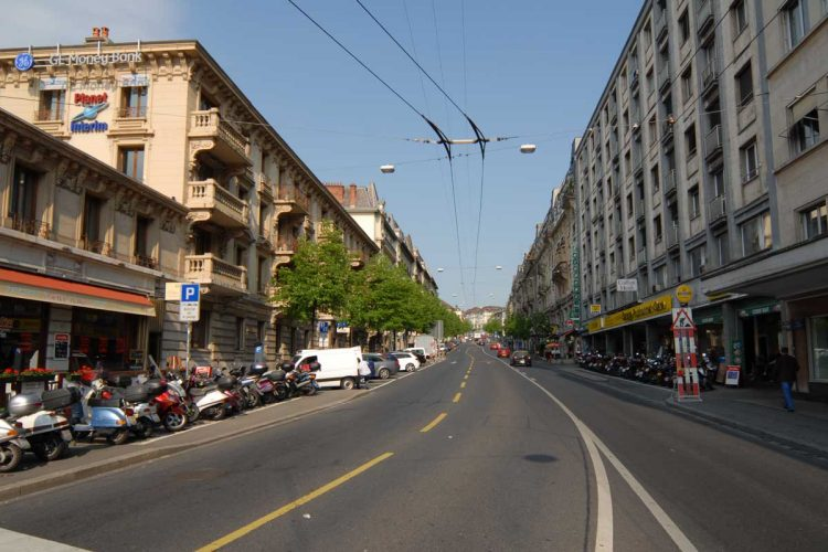 a street in Lausanne, Switzerland