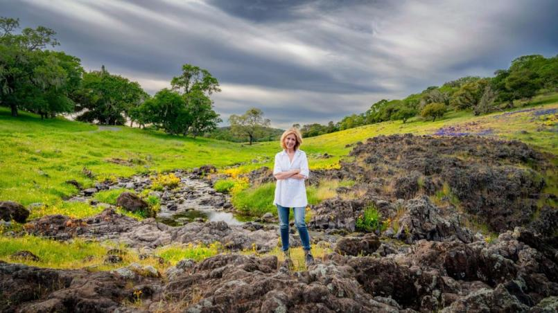 Terry Gamble Boyer at the family's Napa Valley Ranch