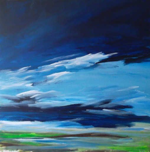 field 103w landscape painting clouds buying canadian art janet bright
