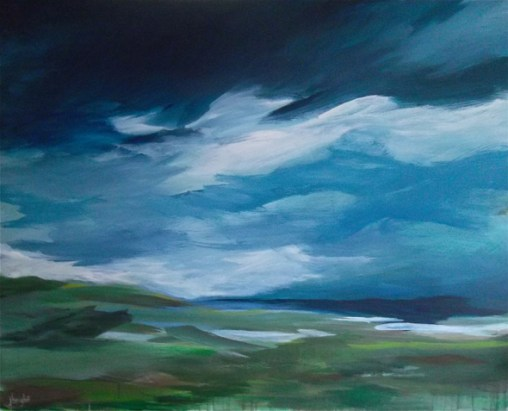 m o s landscape painting clouds buying canadian art janet bright