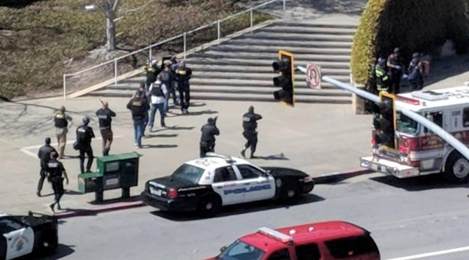 The scenes following a possible shooting at the headquarters of YouTube in San Bruno, California