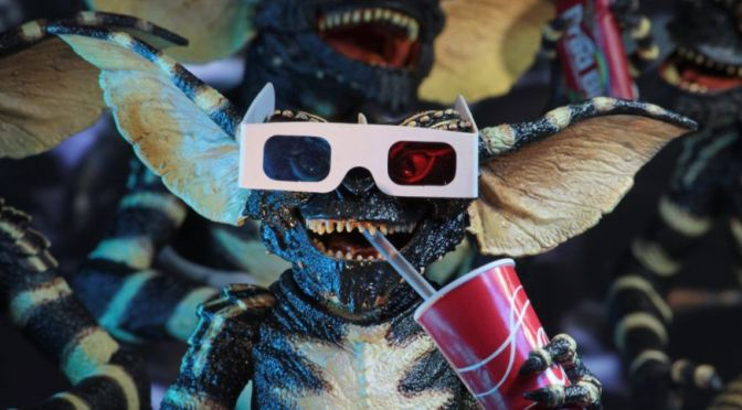 Packaging glimpse and the for  Ultimate Gremlin by NECA, just in time for Christmas