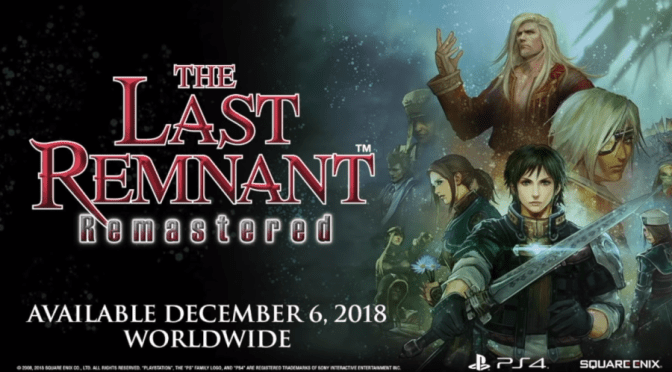 The Last Remnant Remastered ya está disponible para PS4