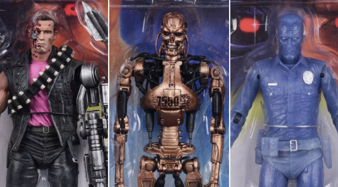 NECA T2 Kenner Tribute White Hot T-1000 and Metal Mash Endoskeleton available