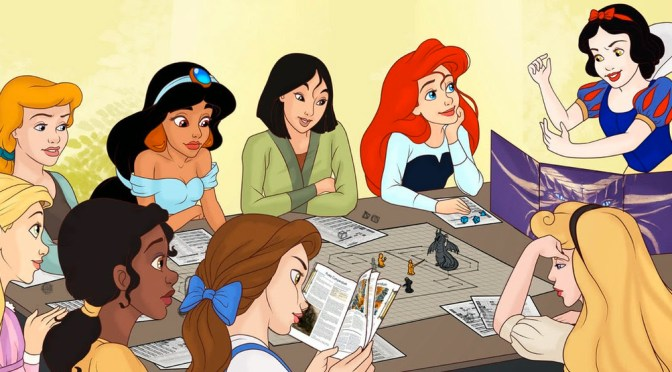 Princesas de Disney juegan 'Dungeons & Dragons' en episodios para Youtube