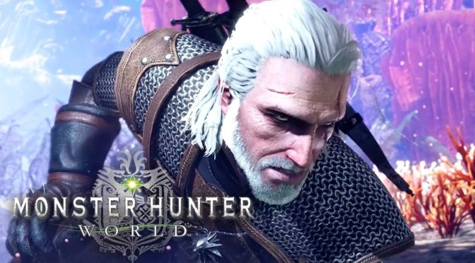 Geralt se une a la partida de Monster Hunter: World