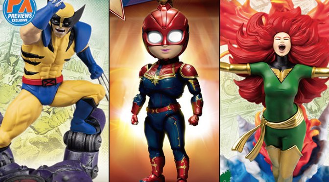 Captain Marvel, Wolverine Lead New PREVIEWS Exclusive Marvel Statues, Egg Attack Figures