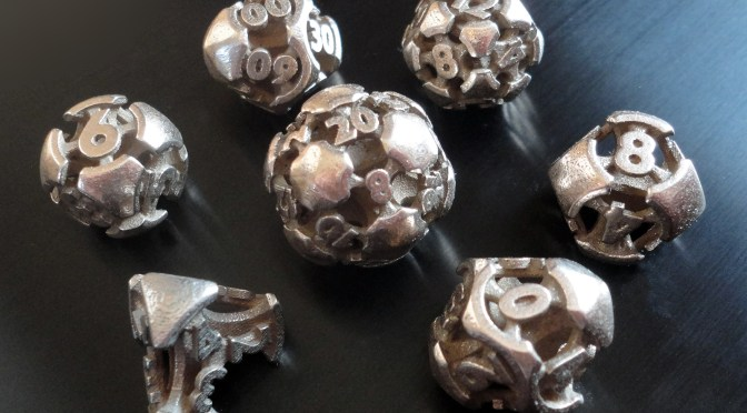 C506 partners with Made by Wombat – Polyhedral Steel Dice Sets for BoardGames