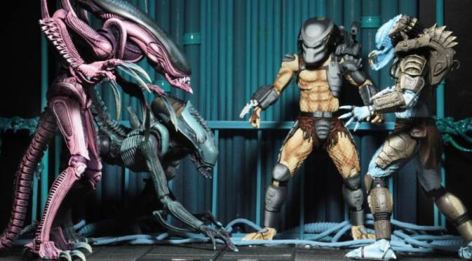 NECA: New In-Stock, The Alien vs Predator Arcade Aliens Assortment