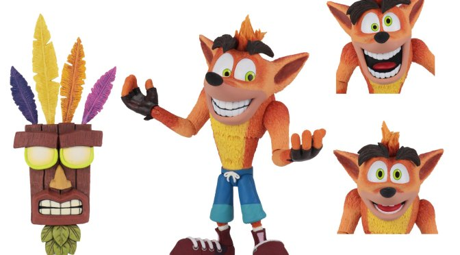 Limited quantities of the Ultra Deluxe Crash Bandicoot with Aku Aku Mask now available