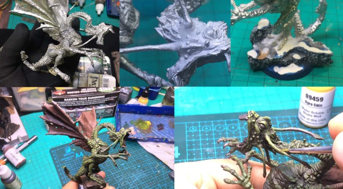 Mini Reaper de la Semana: The process of painting Reaper Jabberwock #60056