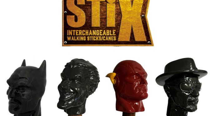 Ven a ver el Unbox Batman, The Flash, Joker, Heisenberg Stix Bastones para caminar, Walking Sticks