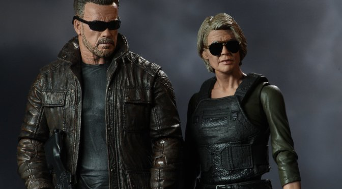 Here are a few new photos of our upcoming action figures for Sarah Connor and the T-800.