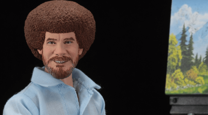 Packaging Reveal The 8″ Cloth Bob Ross Action Figure