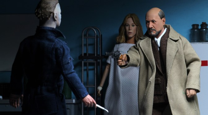 "Halloween 2 (1981) – 8"" Clothed Action Figure – Dr Loomis & Laurie Strode 2 Pack"