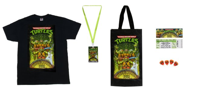 Teenage Mutant Ninja Turtles (1990 Movie) – Accessory Pack – TMNT Musical Mutagen Tour 2020 Accessory Pack