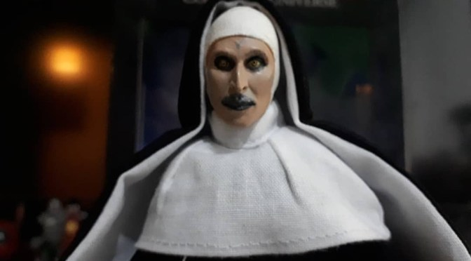 Now available in limited quantities  The Conjuring Universe – 8″ Clothed Action Figure – The Nun!