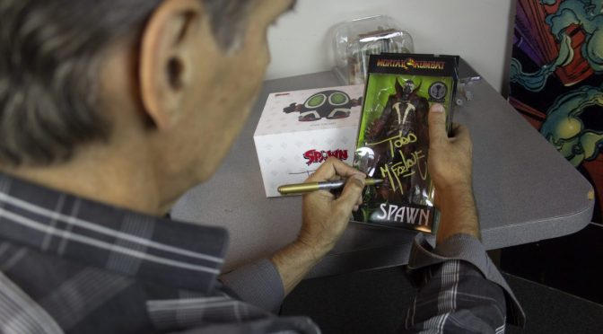 Spawn Action Figure Autographed by Todd McFarlane Available on Walmart.com