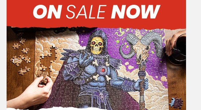 Two new 1000-piece puzzles: He-Man and Skeletor