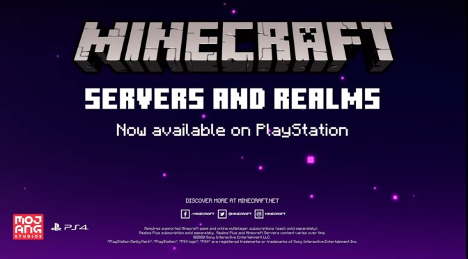 (C506) ¡Anuncian Minecraft-Servers and Realms para Playstation!