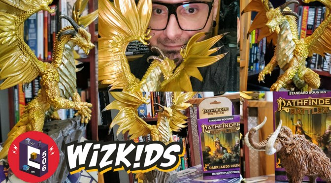 Wizkids Previews – Pathfinder Battles & Darklands Rising Mengkare Great Wyrm Premium Set