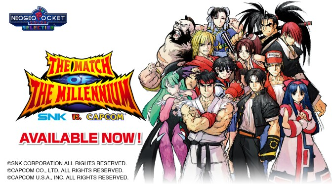 Starting today, SNK VS. CAPCOM: THE MATCH OF THE MILLENNIUM is available for download on the Nintendo Switch