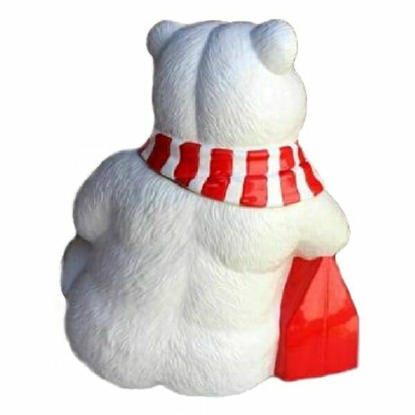 Coca-Cola Polar Bear Cookie Jar back view