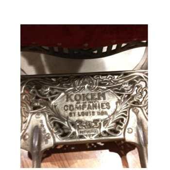 Koken Barber Chair foot rest close up
