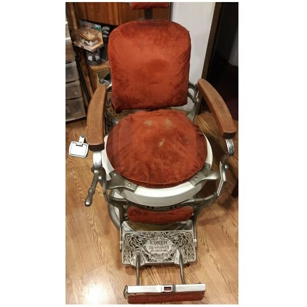 Koken Barber Chair front view