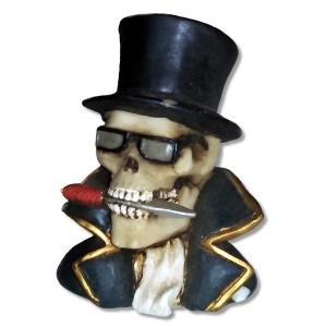 Debonair Skeleton Bust