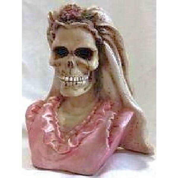 Skeleton Bride Groom Bust Figurine Set bride alone