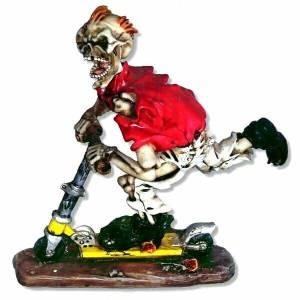 Skeleton Skater Figurine