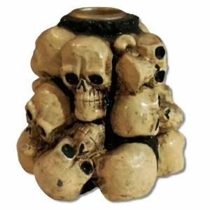 Skull Mound Candle Holder