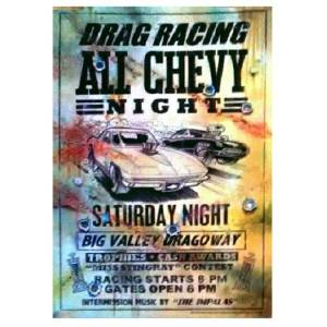 Chevy Drag Racing Sign