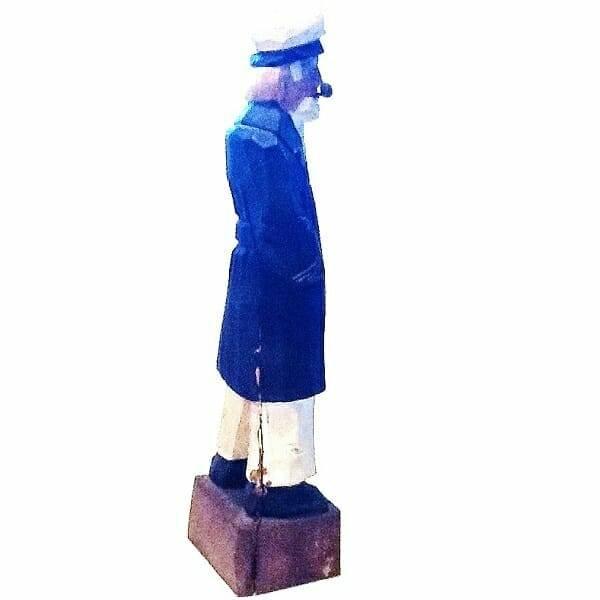 Wood Sailor Captain Figurine side view 2