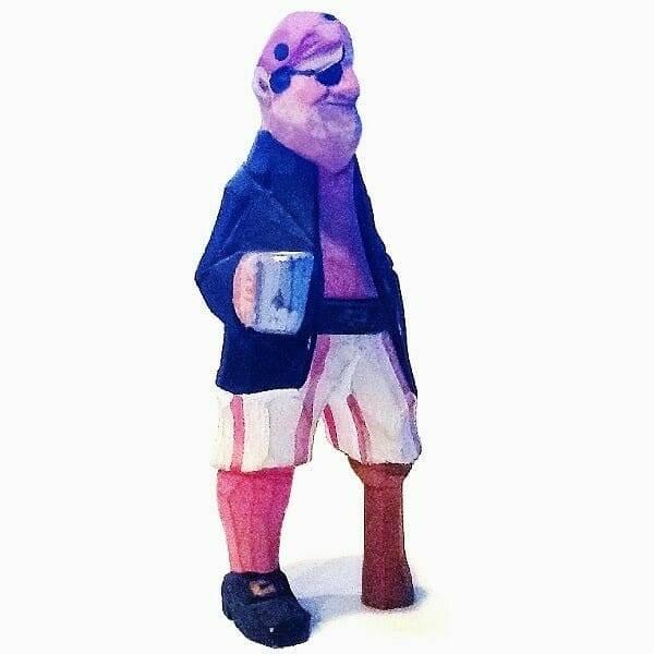 60s Pegleg Pirate Figurine