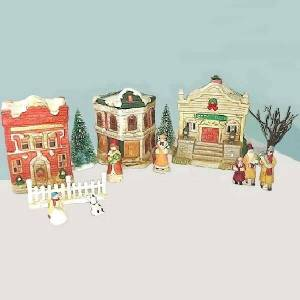 60s Ceramic Holiday Villiage