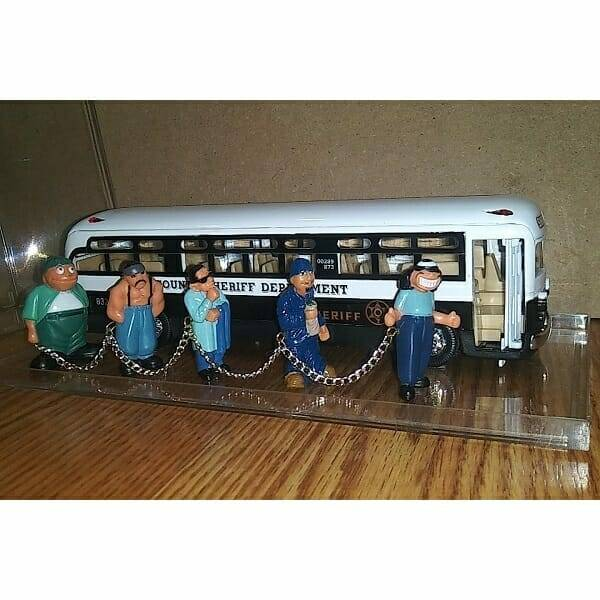 Cool Diecast Sheriff Bus side view