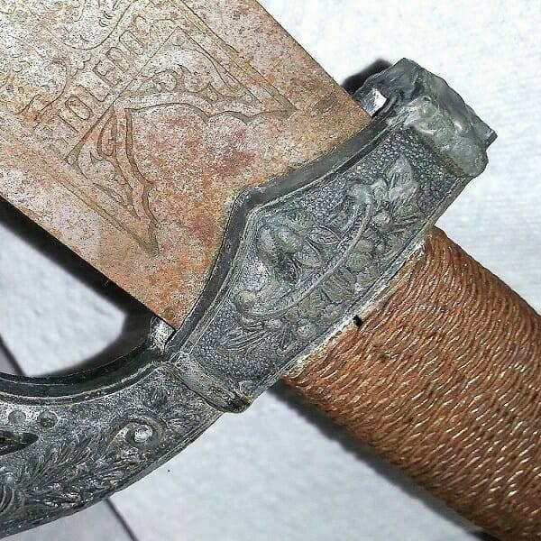 Antique Spanish Sword Toledo close up