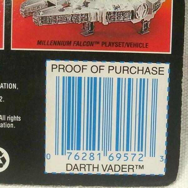 Darth Vader Action Figure proof-of-purchase