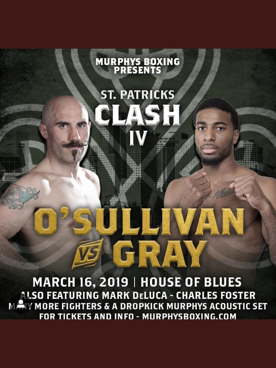 St Patrick's Day endorser Gary O'Sullivan vs Gray