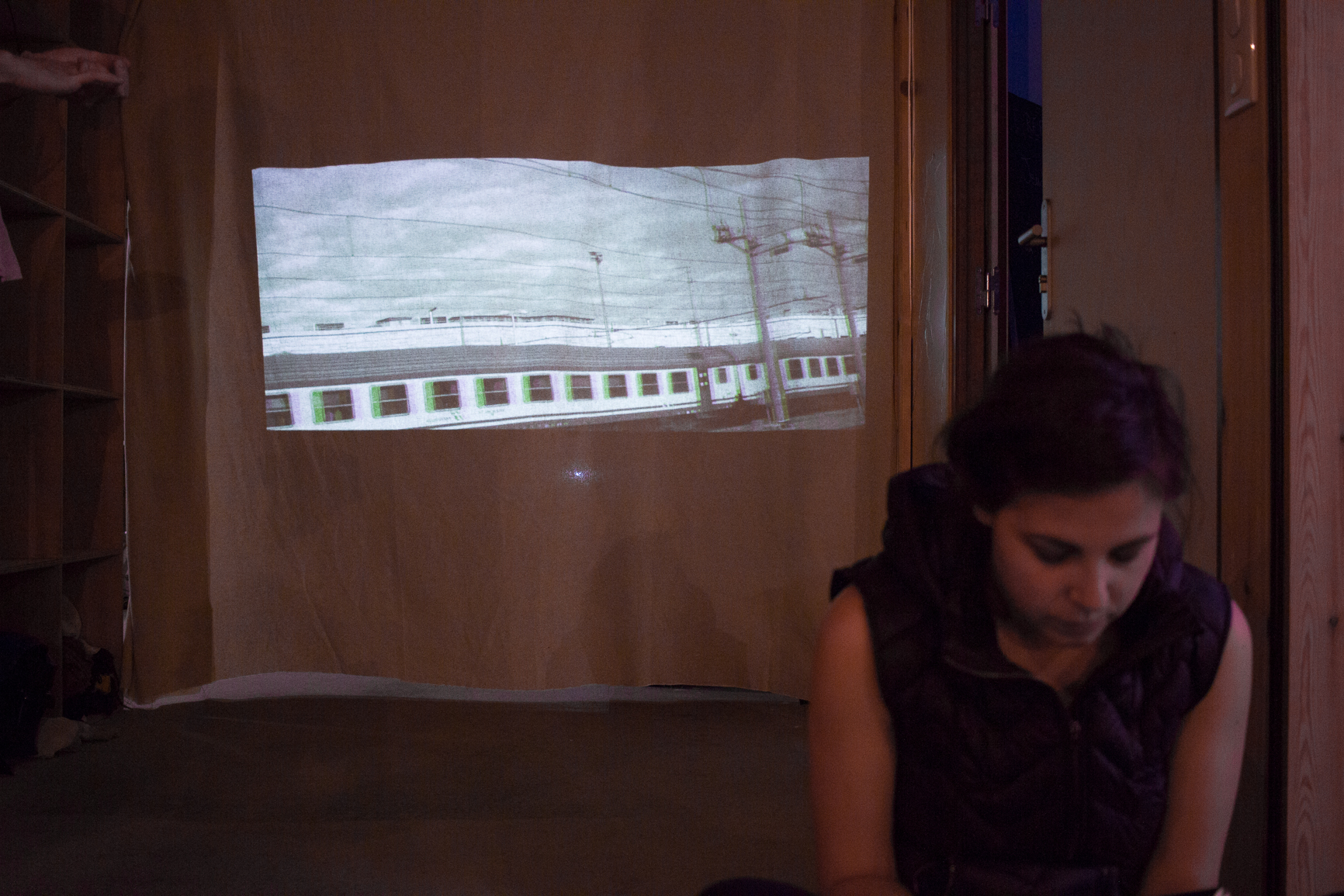 installation, projection