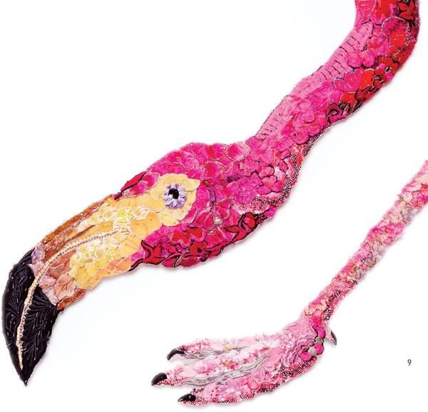 Louise Saxton - Flamingo - detail