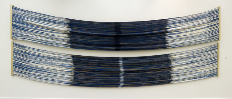 Rowland Ricketts - Blue and Brown, Symmetrically Reflected at Gap and Overlap - 2011