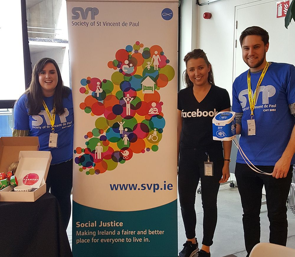 Staff at a Society of St Vincent de Paul fundraising event using CollecTin