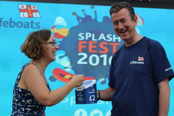 RNLI Splashfest Contactless Fundraising with CollecTin